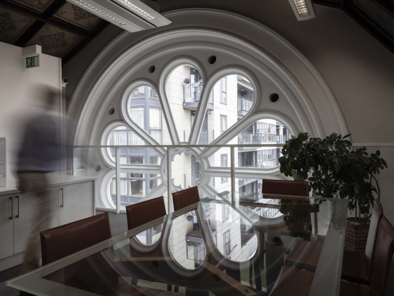 Rose Window in Genesis Consulting Offices